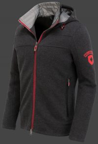 мужская куртка Florida Men-907 Darkgreymelange/Red Wellensteyn сбоку