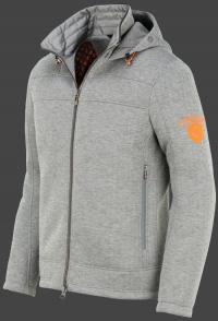 мужская куртка Florida Men-999 Greymelange/ Neonorange Wellensteyn сбоку