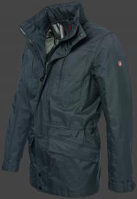 мужская куртка Golfjacke-65 Anthrazit Wellensteyn сбоку