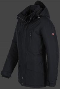 Мужская куртка Golfjacke-Winter-44 Dunkelblau Wellensteyn сбоку