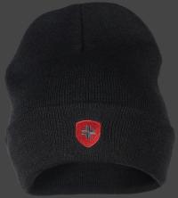 Hafenmutze-105 Schwarz/Rot/Anthrazit