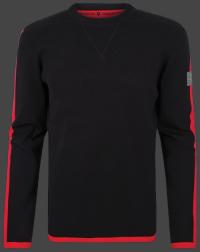 мужской пуловер Herren Pullover 013 Black/Red Wellensteyn
