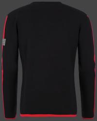 мужской пуловер Herren Pullover 013 Black/Red Wellensteyn сзади