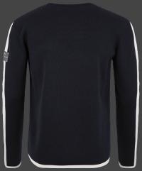 Качественный мужской пуловер Herren Pullover 013 Darknavy/Ivory Wellensteyn back