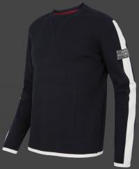 Качественный мужской пуловер Herren Pullover 013 Darknavy/Ivory Wellensteyn front