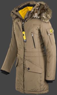 женская куртка Snowdome Lady-375 Khaki Wellensteyn сбоку