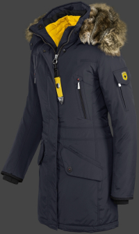 женская куртка Snowdome Lady-375 Midnightblue Wellensteyn сбоку