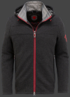 мужская куртка Florida Men-907 Darkgreymelange/Red Wellensteyn
