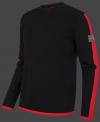 мужской пуловер Herren Pullover 013 Black/Red Wellensteyn сбоку